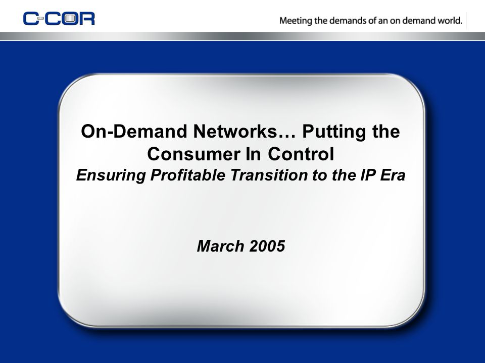 5/3/201522 ContentNetworkCustomerWorkforce OSS Component Offerings Digital Advertising & On-Demand HSD & On Demand Capacity Management HFC Resources VoIP & HSD Activation Mobile Workforce