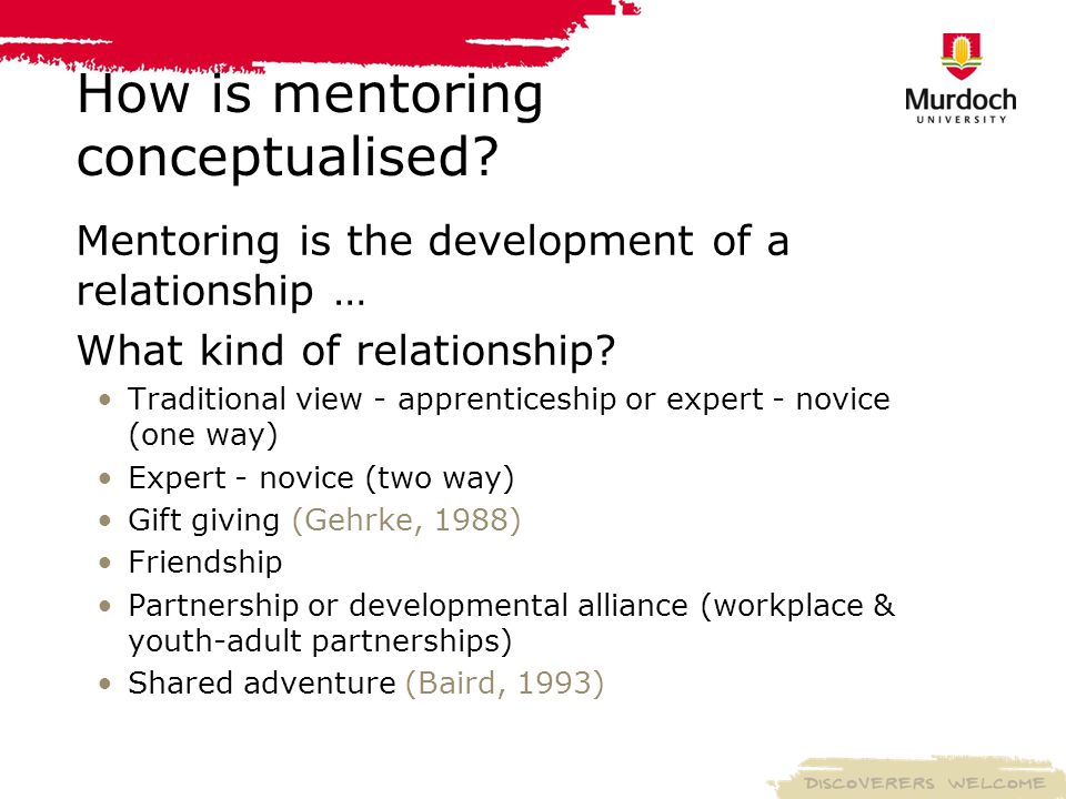 How is mentoring conceptualised.