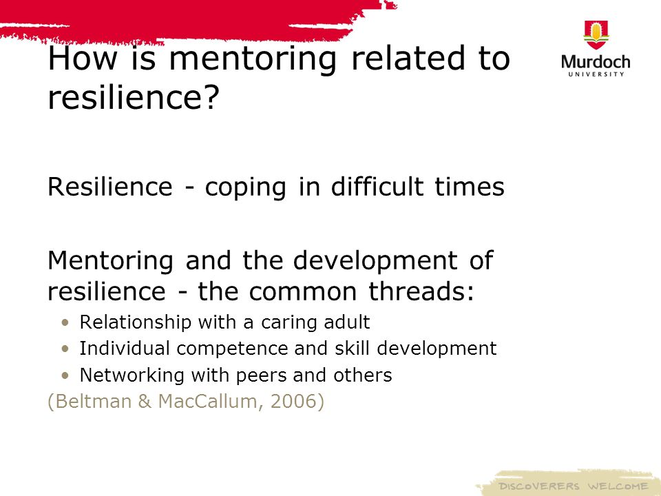 How is mentoring related to resilience.