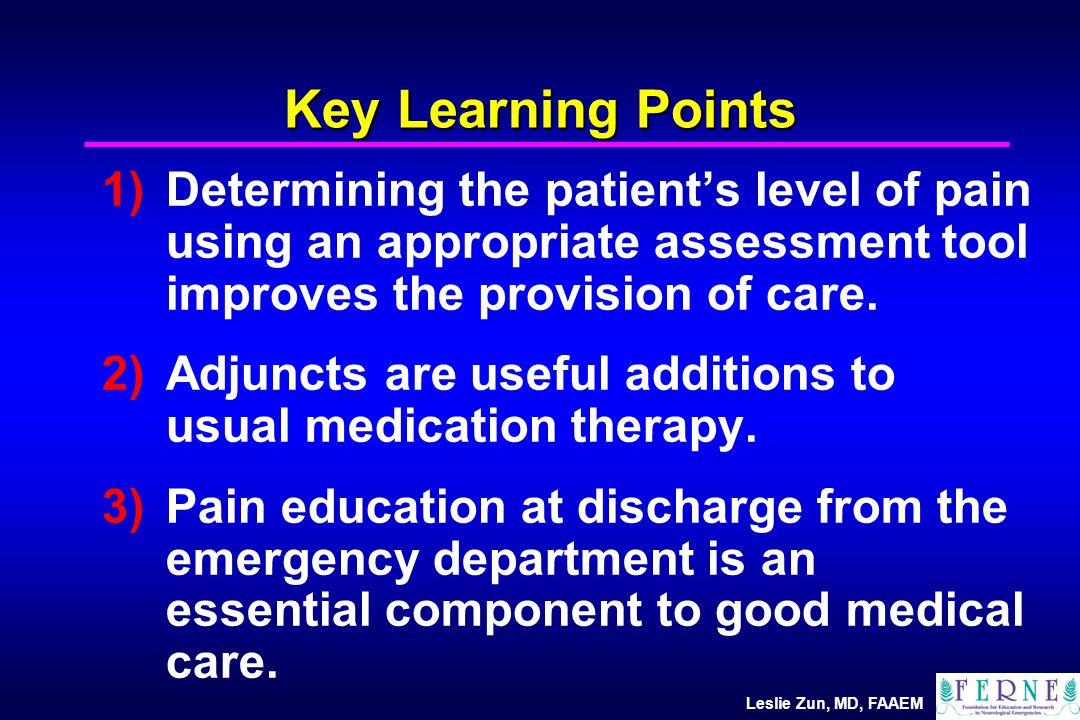 Leslie Zun, MD, FAAEM Pain Perception Patient vs.