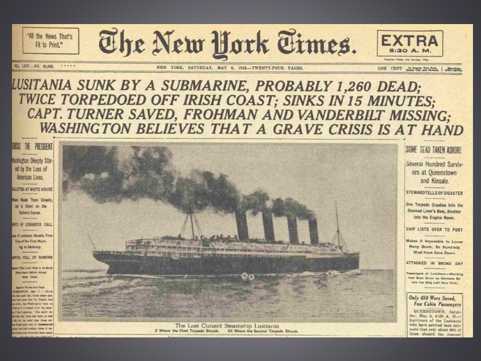 Submarine Warfare Germany s hope in winning against British naval power lay w/ a new weapon: the submarine Feb.