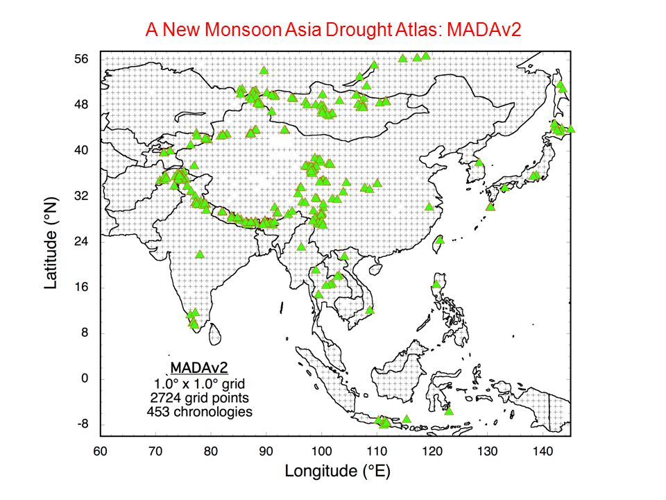 A New Monsoon Asia Drought Atlas: MADAv2