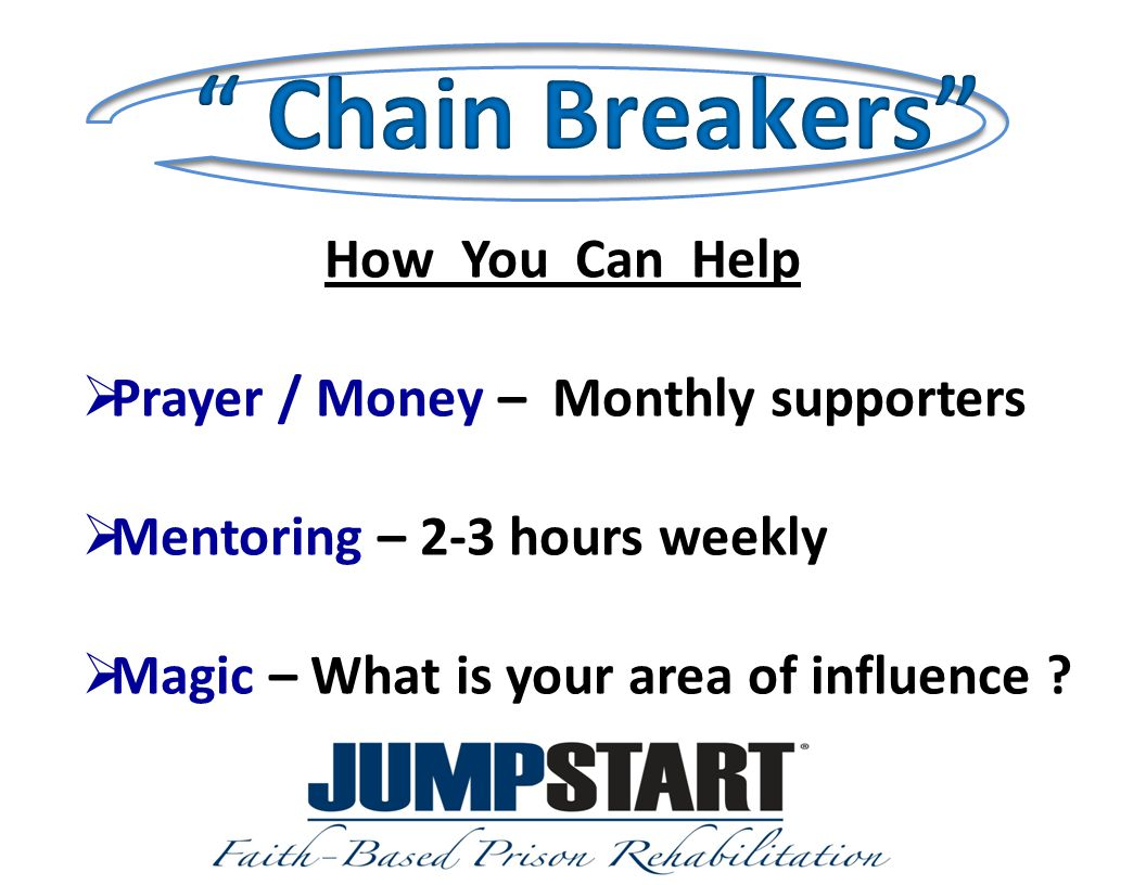 How You Can Help  Prayer / Money – Monthly supporters  Mentoring – 2-3 hours weekly  Magic – What is your area of influence