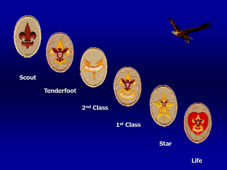 Scout Tenderfoot 2 nd Class 1 st Class Star Life