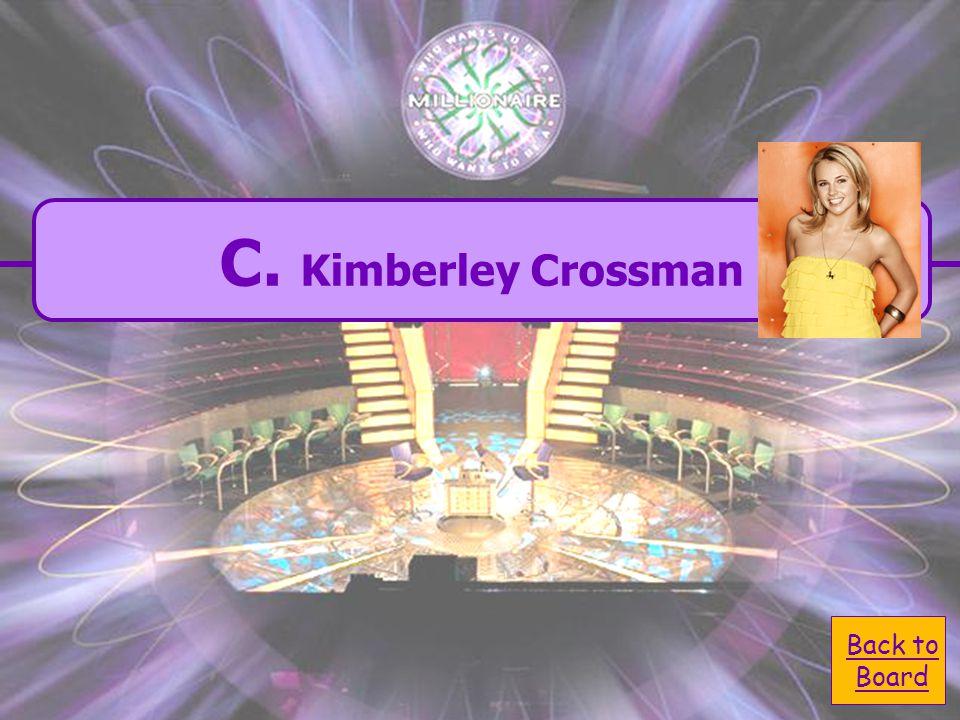  A. Nicole Crossman A. Nicole Crossman  C. Kimberly Crossman C.