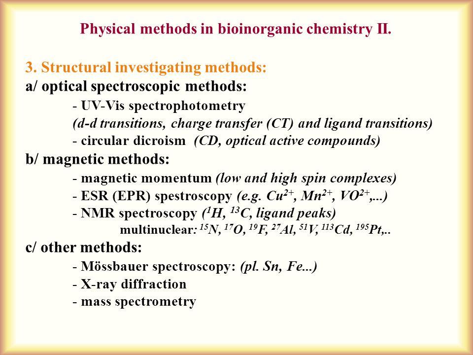 Physical methods in bioinorganic chemistry II.3.