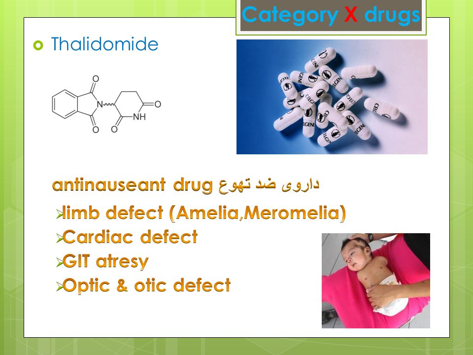 Category X drugs
