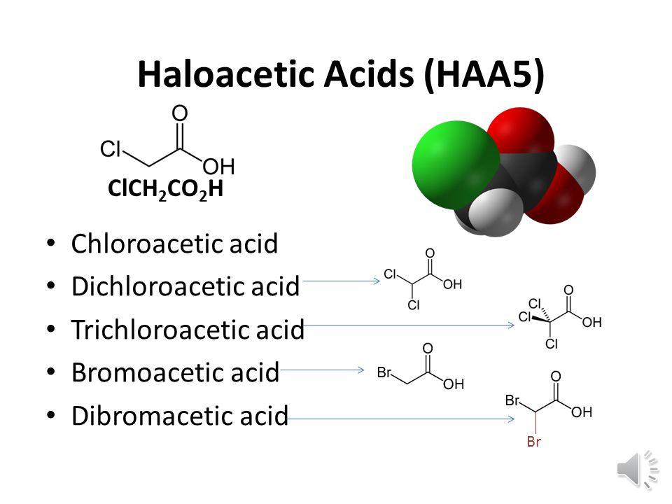 Cl H H C C H H H H H H Methane CH 4 C C H H Cl Chloroform CHCl 3 Tri chloro methane Tri halo methanes DBPs Br C C H H Cl CHCl 2 Br Dichloro bromo methane Br C C H H Cl Br CHClBr 2 Chloro di bromo methane Br C C H H Bromoform CHBr 3 Tri bromo methane