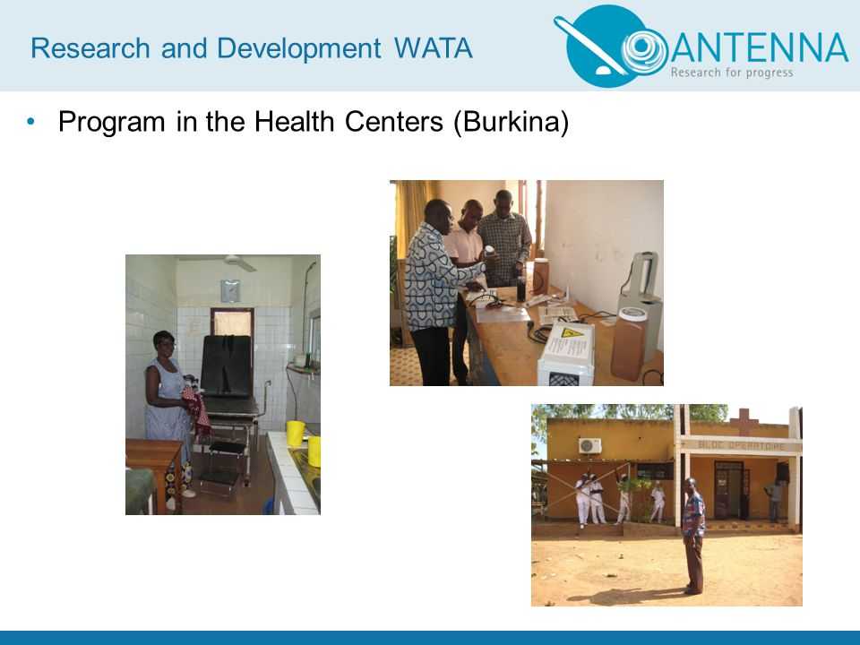 Program in the Health Centers (Burkina) Research and Development WATA