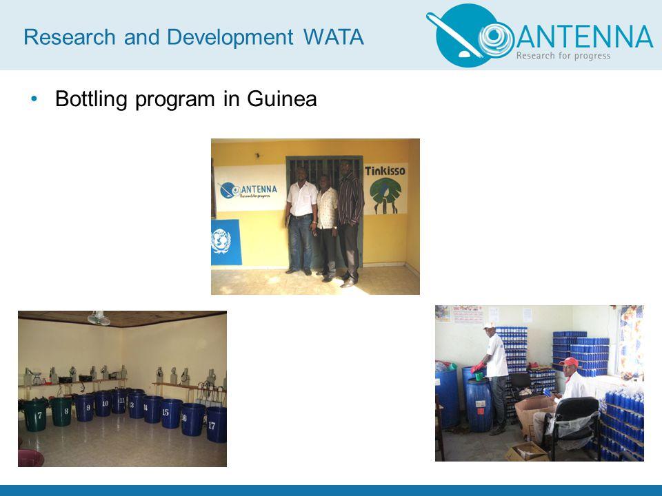 Bottling program in Guinea Research and Development WATA
