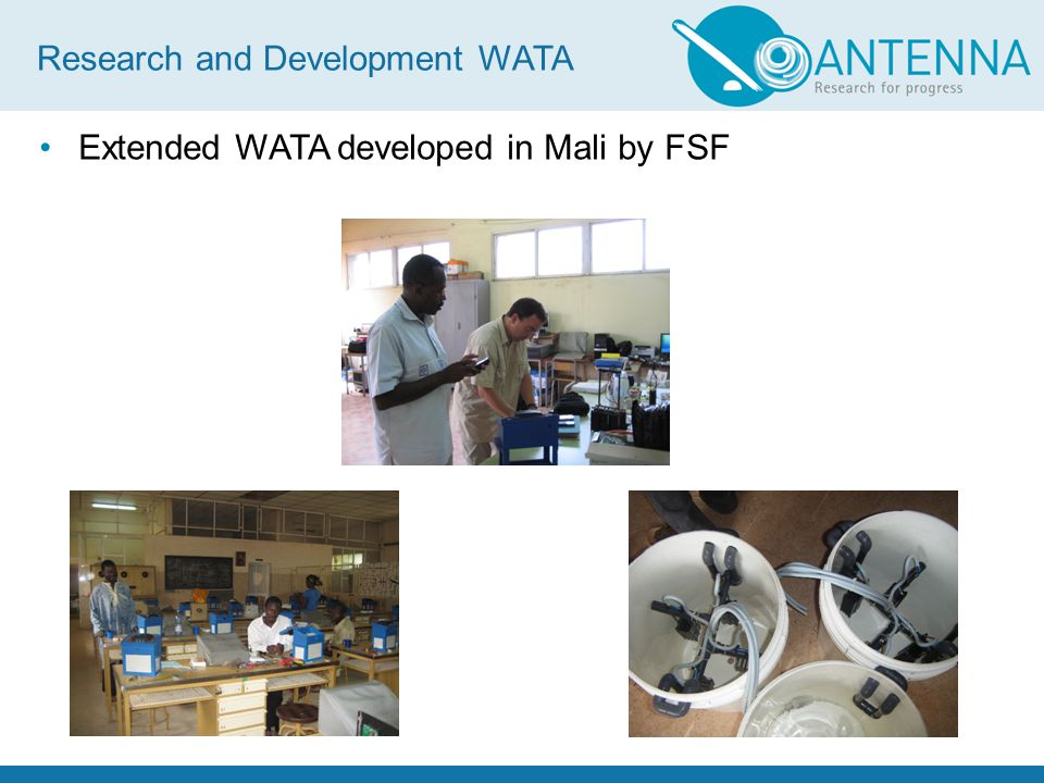 Extended WATA developed in Mali by FSF Research and Development WATA