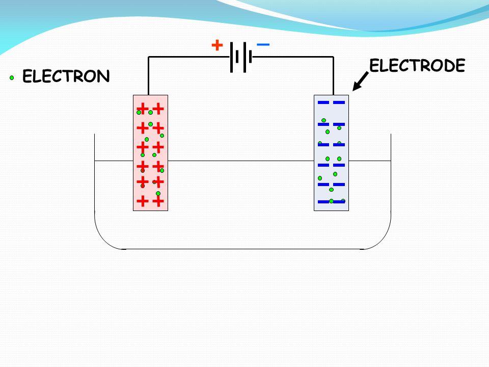+ _ ELECTRODE ELECTRON