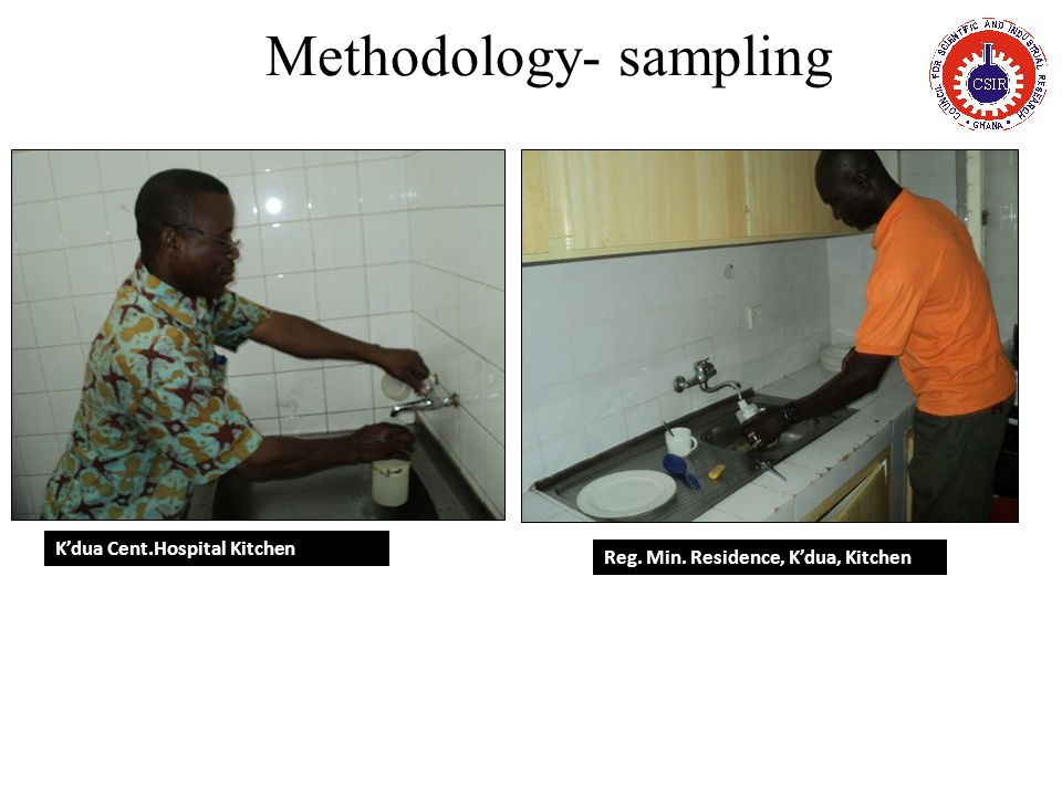 Methodology- sampling K'dua Cent.Hospital Kitchen Reg. Min. Residence, K'dua, Kitchen