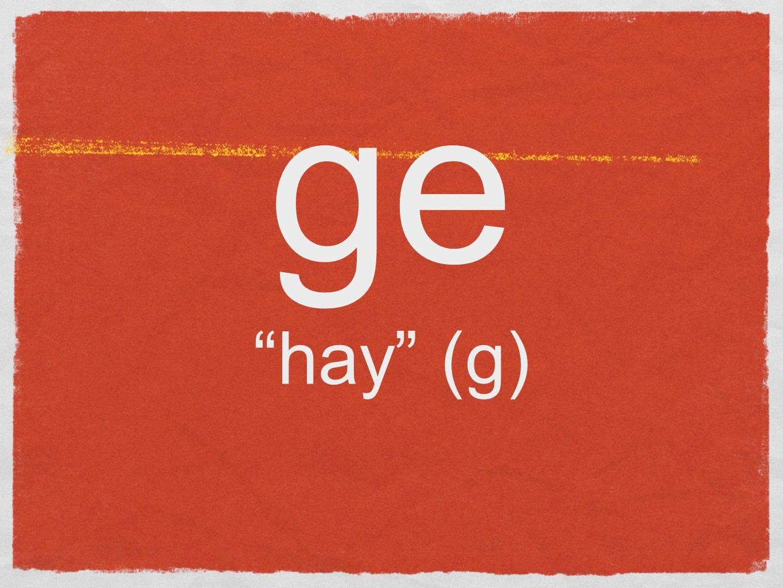 ge hay (g)