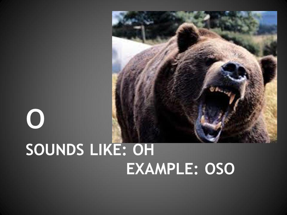 SOUNDS LIKE: OH EXAMPLE: OSO o