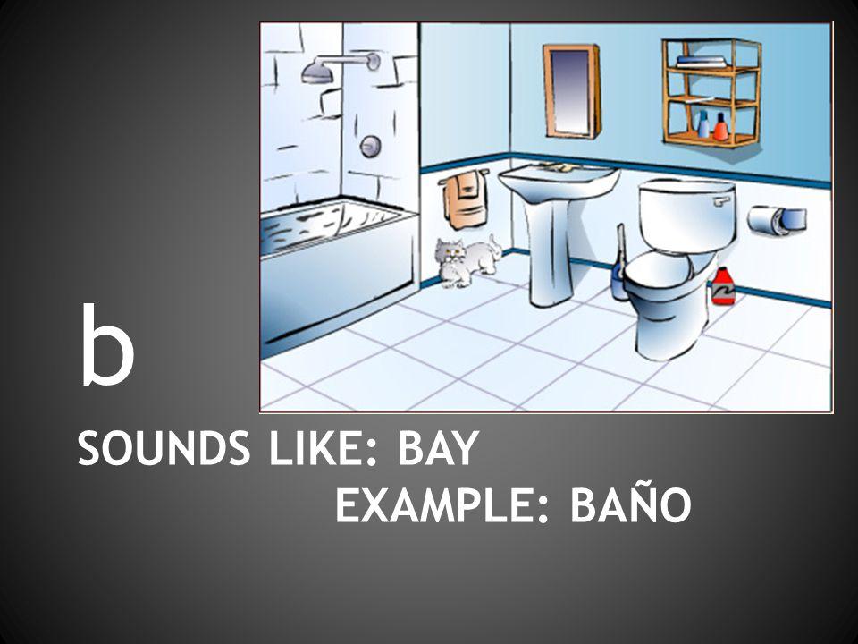 SOUNDS LIKE: BAY EXAMPLE: BAÑO b