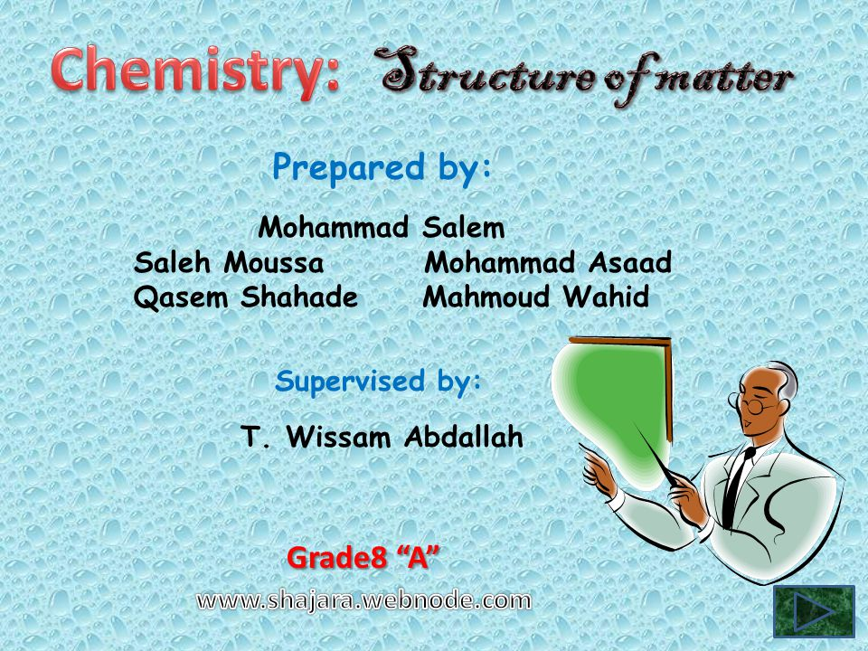 Structure of matter Atoms, Ions and molecules are the building blocks of element and component.