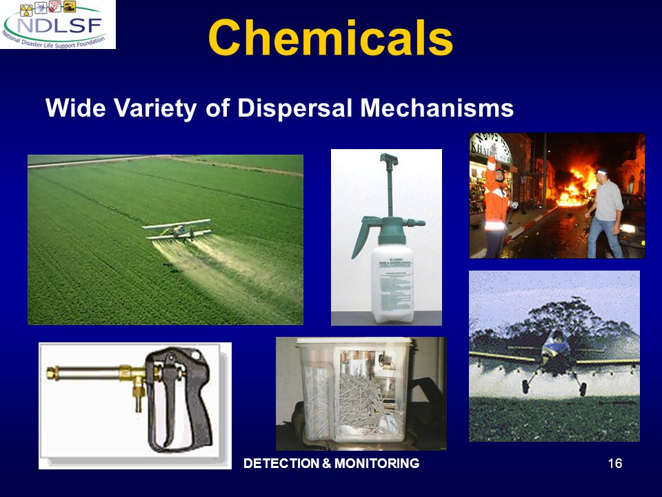 DECON v 2.0DETECTION & MONITORING16 Chemicals Wide Variety of Dispersal Mechanisms
