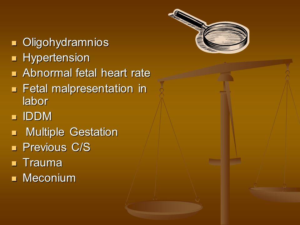 ACOG & AAP When EFM is the method selected for fetal assessment.