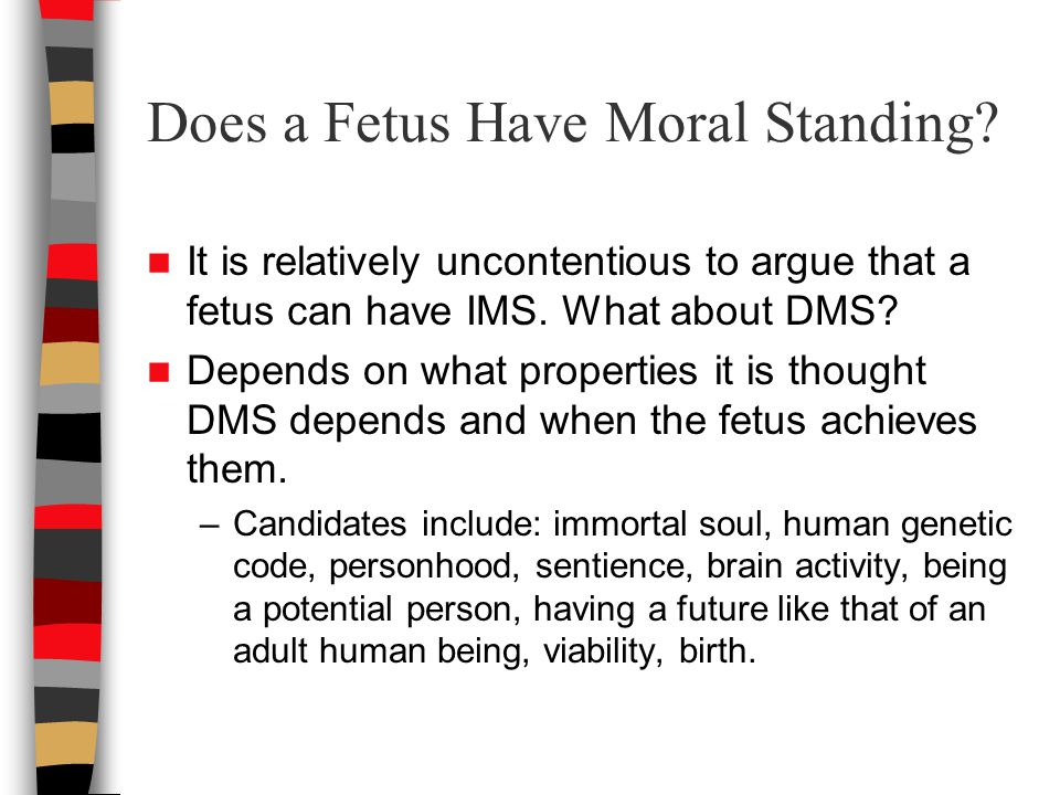Does a Fetus Have Moral Standing.