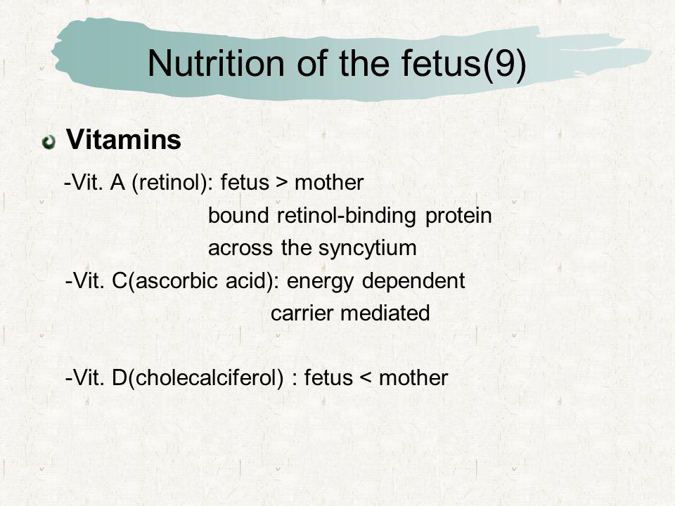 Nutrition of the fetus(9) Vitamins -Vit.