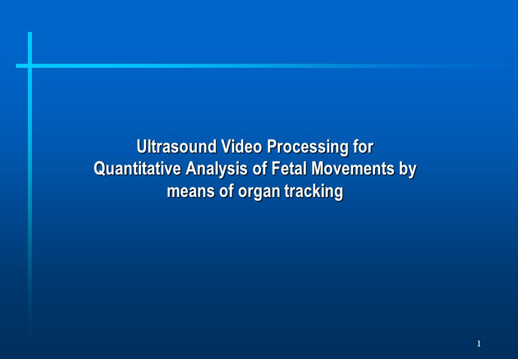 1 Ultrasound Video Processing for Quantitative Analysis of Fetal Movements by means of organ tracking
