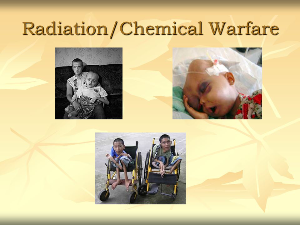 Radiation/Chemical Warfare