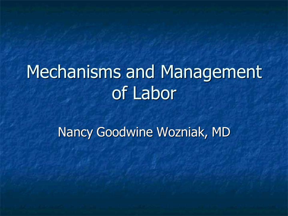 Mechanisms and Management of Labor Nancy Goodwine Wozniak, MD