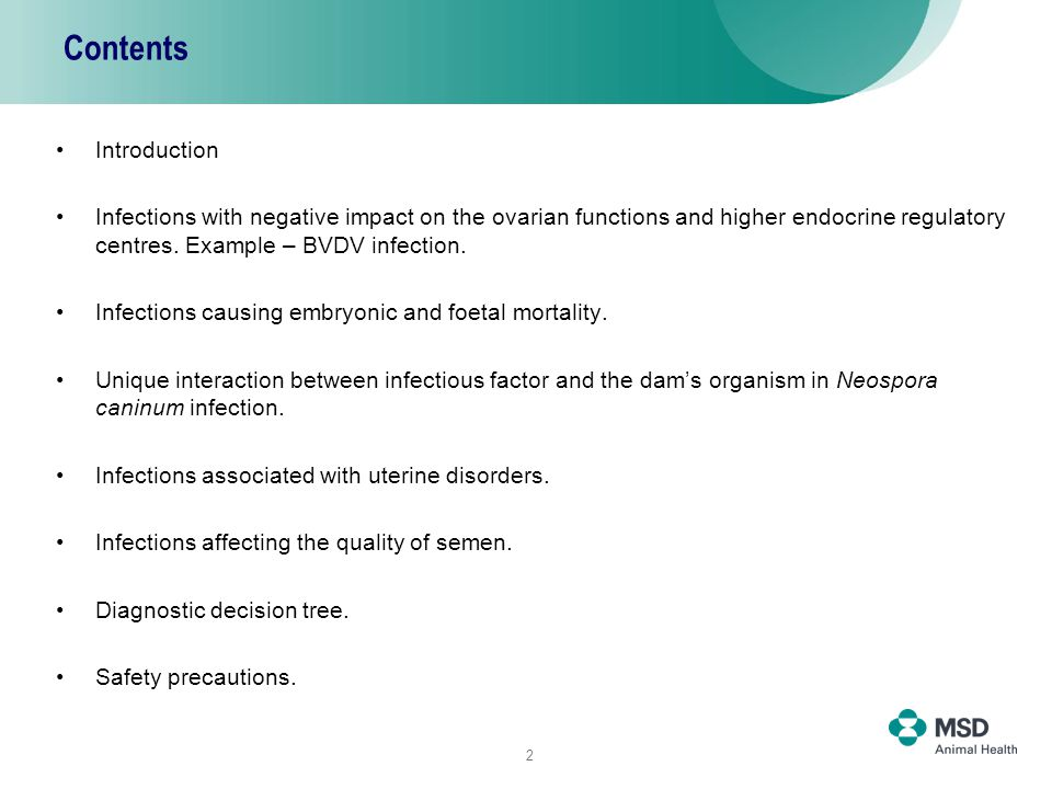 2 Contents Introduction Infections with negative impact on the ovarian functions and higher endocrine regulatory centres.