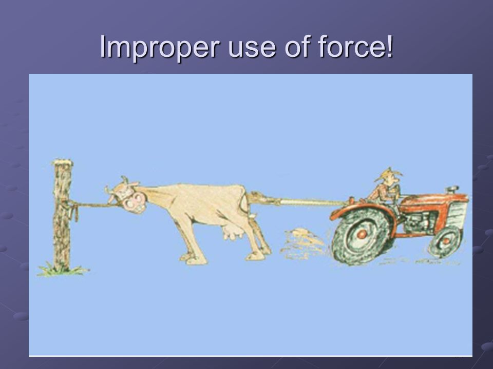 24 Improper use of force!
