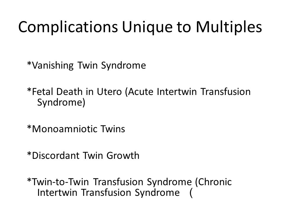 Etiology 1)constitutional factors such as the genetic dissimilarity of DZ twins 2)local placental implantation factors