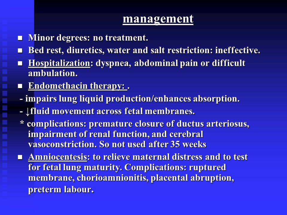management Minor degrees: no treatment. Minor degrees: no treatment.