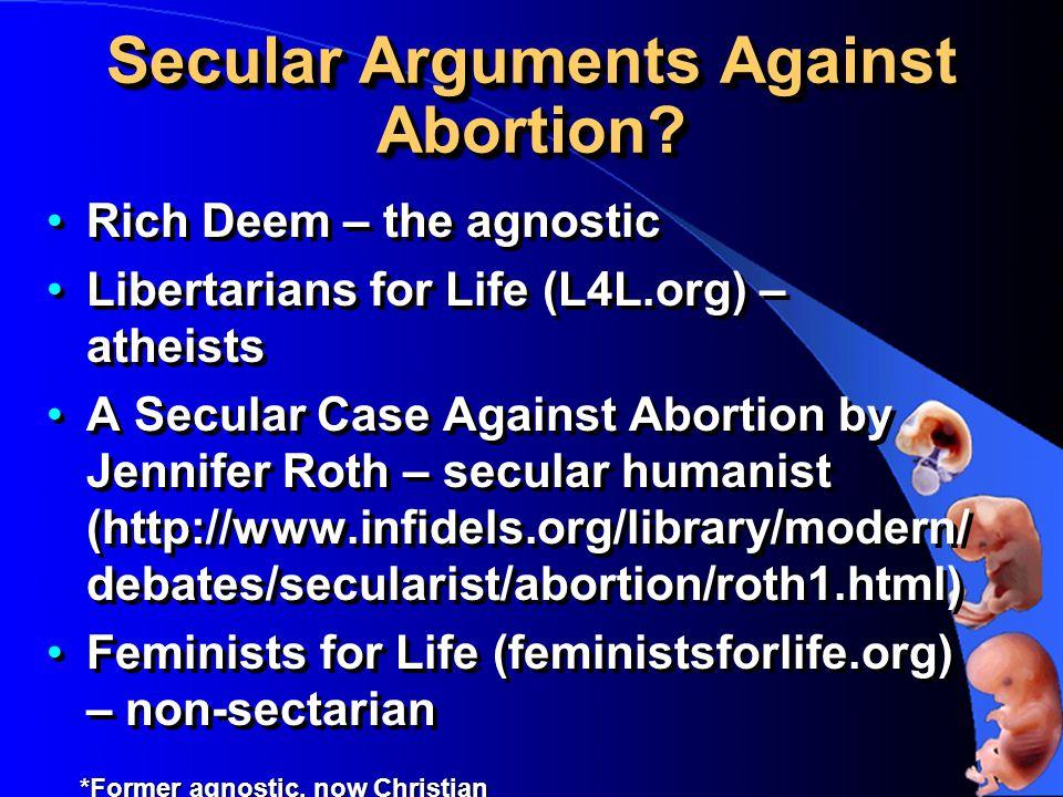 Secular Arguments Against Abortion.