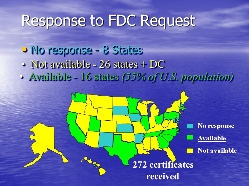 Fetal Death Registries Most but not all states Most but not all states Only 20 weeks are greater included Only 20 weeks are greater included ICD limitations (no mechanism codes) ICD limitations (no mechanism codes) Reliance on written cause narratives Reliance on written cause narratives