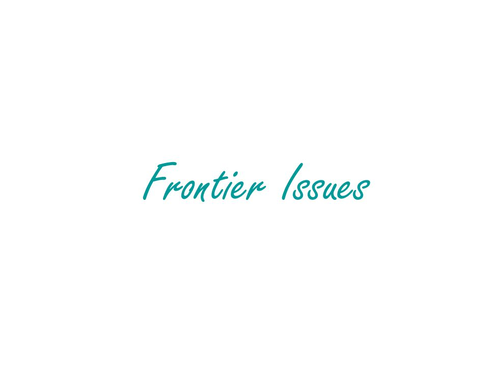 Frontier Issues
