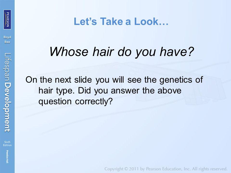 The Genetics of Hair Type