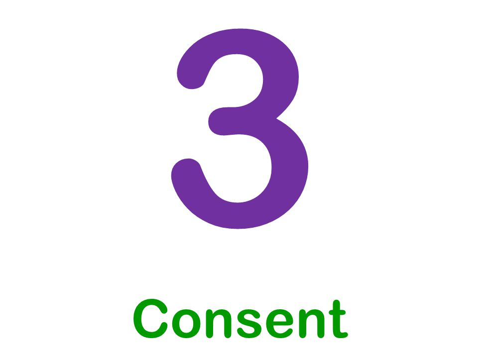 3 Consent