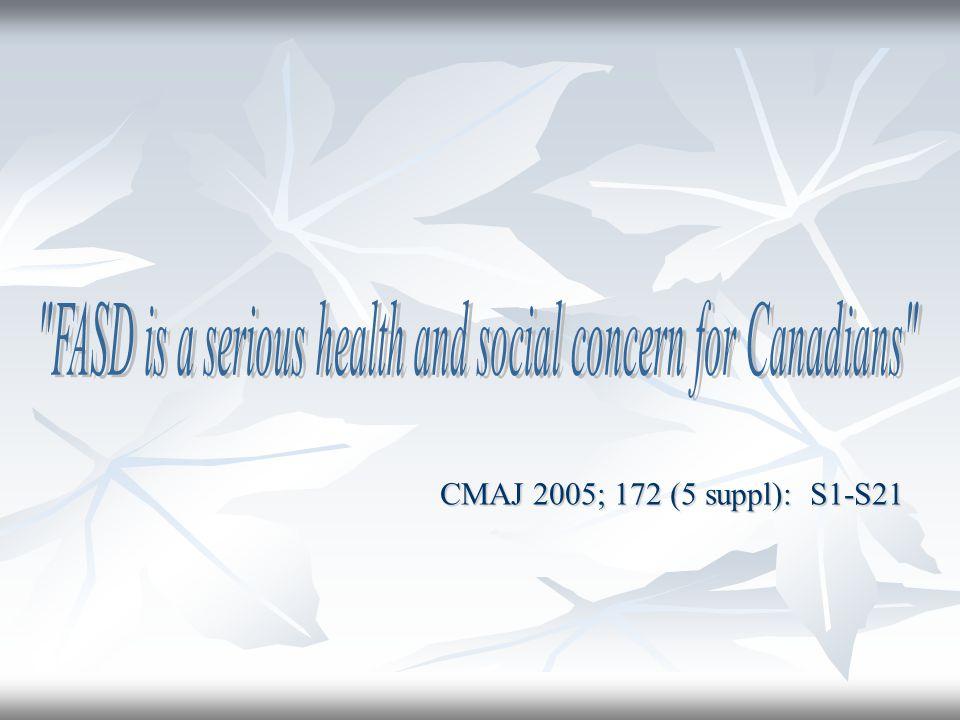 CMAJ 2005; 172 (5 suppl): S1-S21