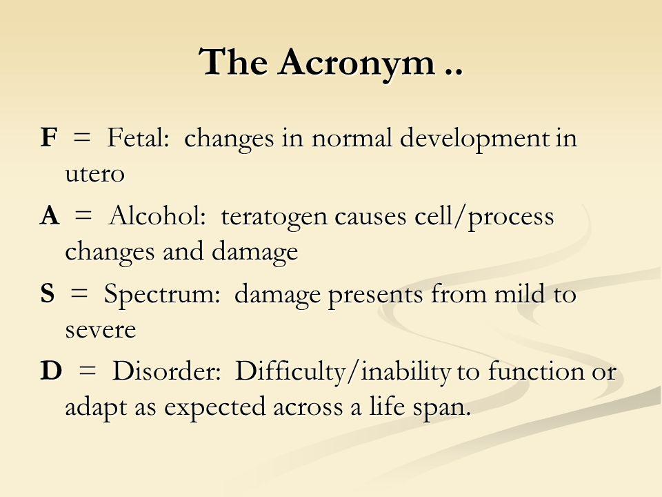 The Acronym..