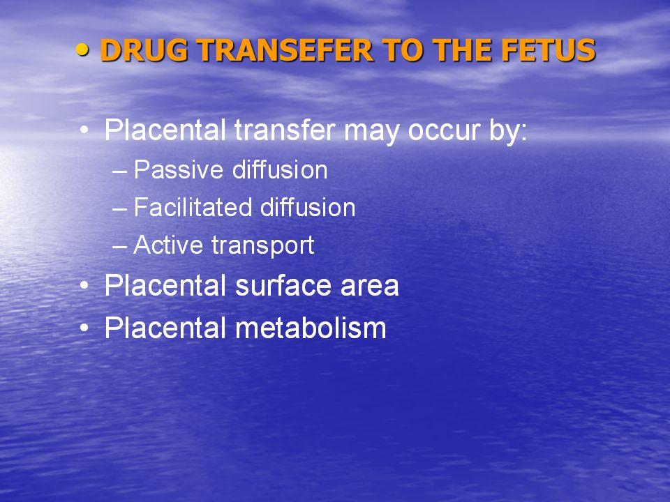 DRUG TRANSEFER TO THE FETUS DRUG TRANSEFER TO THE FETUS
