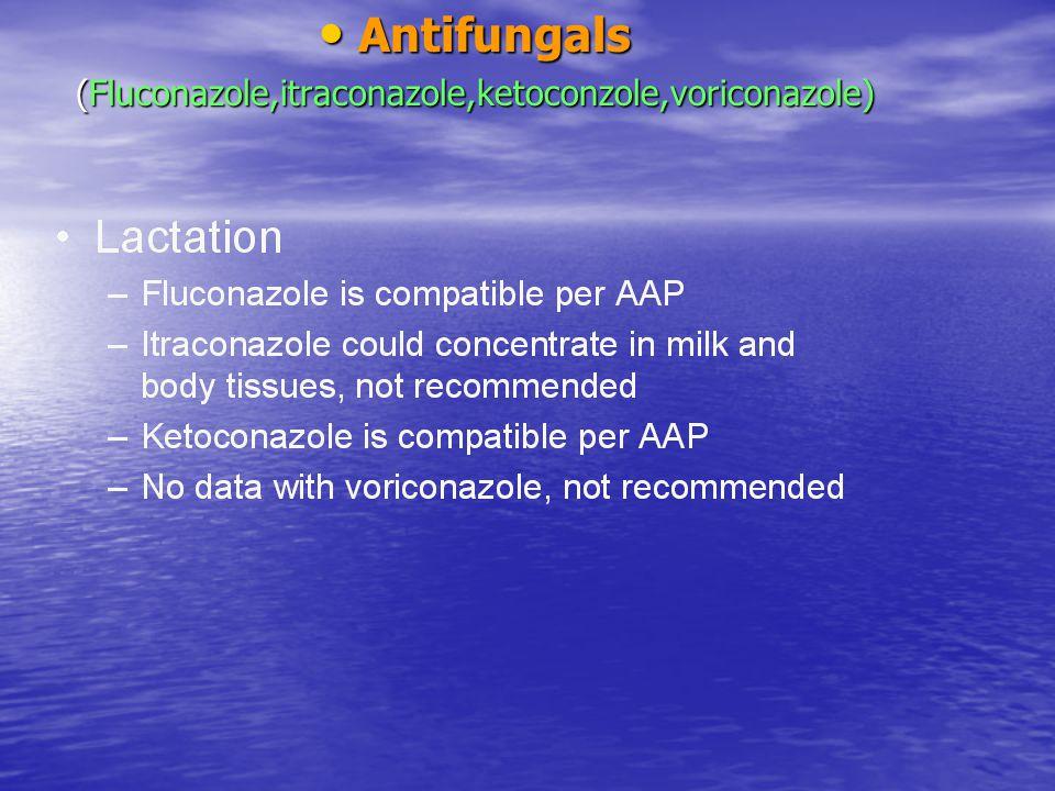 Antifungals Antifungals (Fluconazole,itraconazole,ketoconzole,voriconazole)