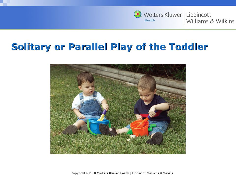 Copyright © 2008 Wolters Kluwer Health | Lippincott Williams & Wilkins Solitary or Parallel Play of the Toddler