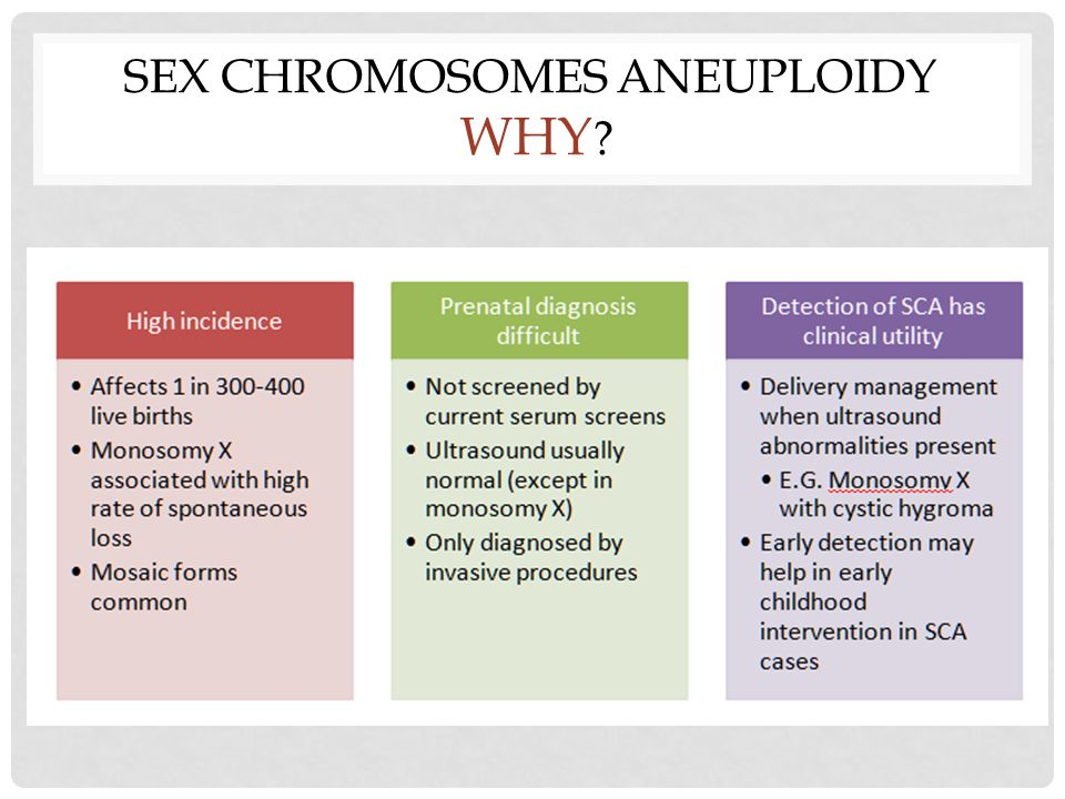 SEX CHROMOSOMES ANEUPLOIDY WHY ?