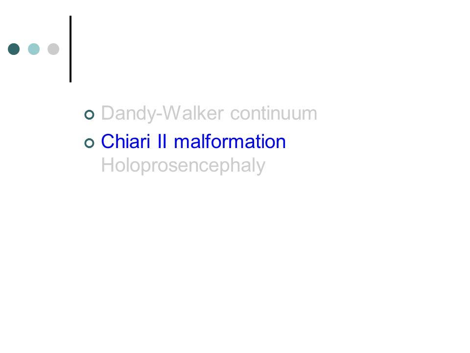 Dandy-Walker continuum Chiari II malformation Holoprosencephaly