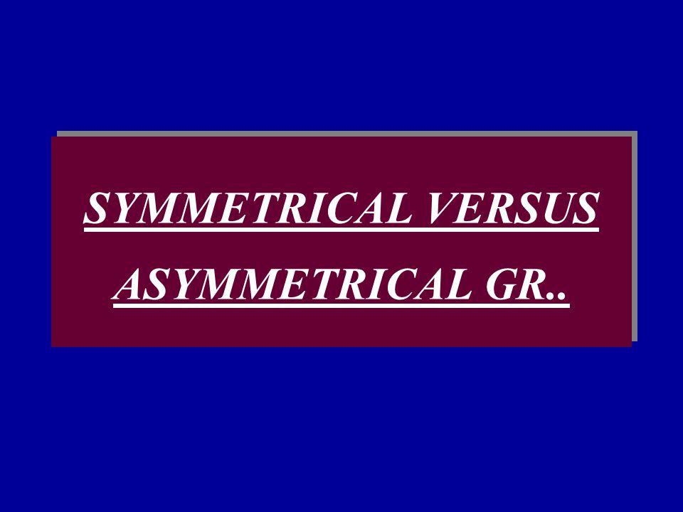 SYMMETRICAL VERSUS ASYMMETRICAL GR..