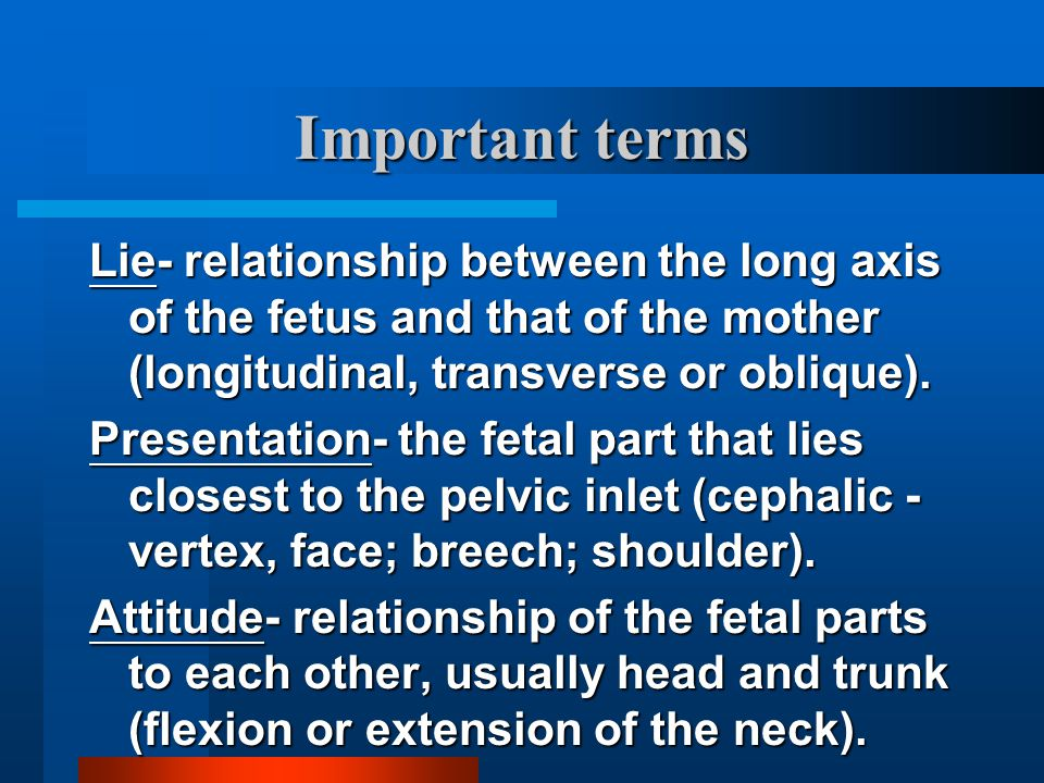 Onset of labor Regular uterine contractions - from at least 1/2 hr, frequency at least every 10 minutes Regular uterine contractions - from at least 1/2 hr, frequency at least every 10 minutes Bleeding Bleeding Rupture of membranes Rupture of membranes