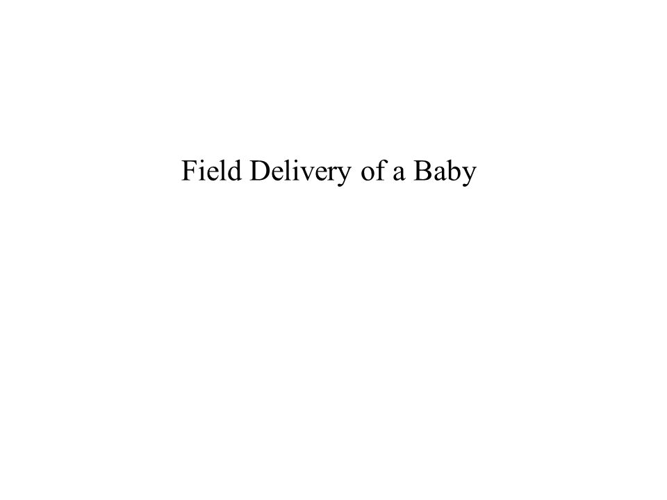 Field Delivery of a Baby 31