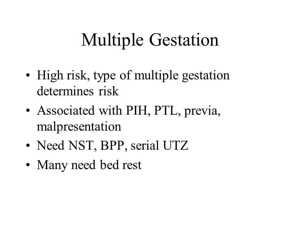 Intrauterine Resuscitation Decreased uterine placental flow NSG- turn to L lat, IV fluids, give 02 Correct maternal hypotension Turn off pit Explain to family