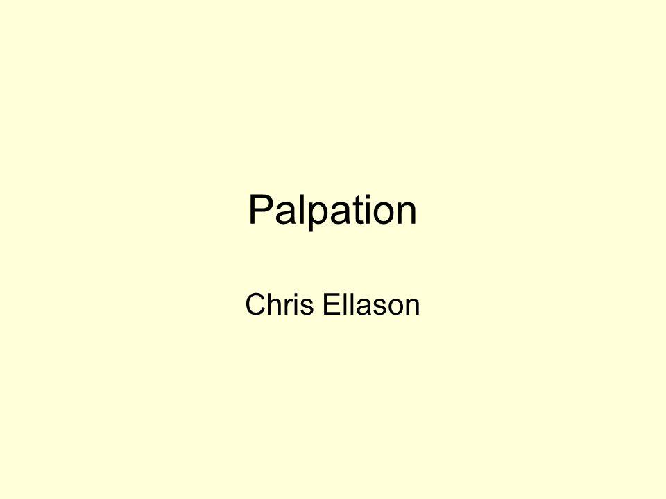 Palpation Chris Ellason