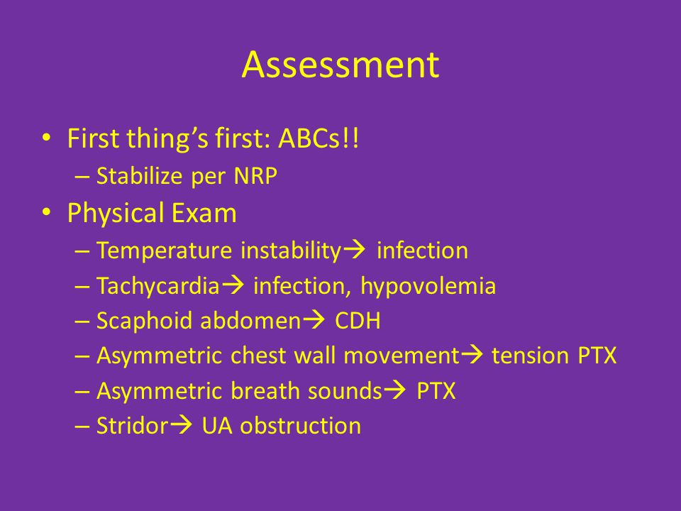 Assessment First thing's first: ABCs!.